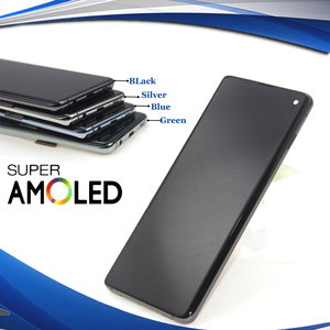 ORIGINAL SUPER AMOLED LCD For SAMSUNG Galaxy S10 G973F G973 S10 Plus G975 G975F Touch Screen Digitizer Assembly