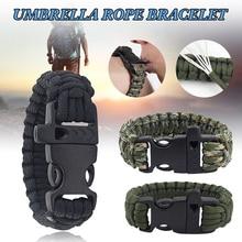 Аварийный режим паракорд плетеный браслет сверхпрочный с пряжкой и свистком для кемпинга активного отдыха аксессуары