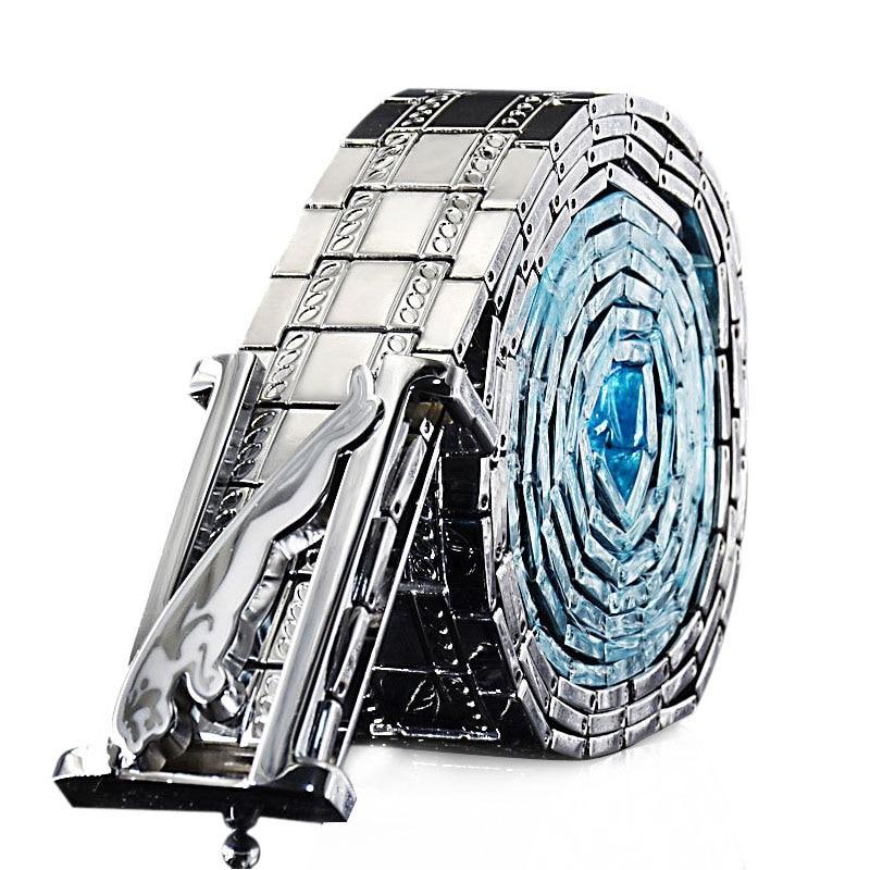 Men Metal Stainless Steel Belt Alloy Smooth Buckle Chain Waist Belts For Men Luxury Brand Designer Belts Male Leopard Designer