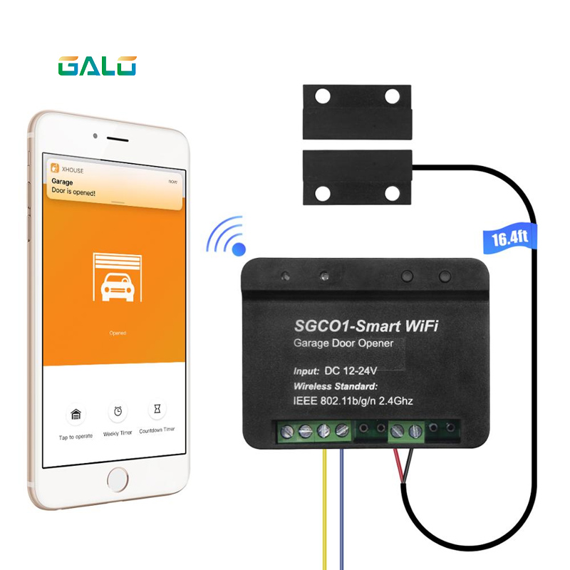 Relay Wifi Switch Remote Control Garage Door Opener Receiver Wifi Smart Receiver Galo Gate Opener Remote Control Door Access