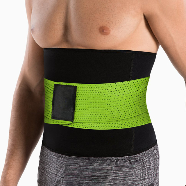 New Back waist support sweat belt waist trainer waist trimmer musculation abdominale fitness belt Sports Safety sauna sweat belt 2
