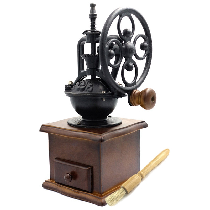 Manual Coffee Grinder With Grind Settings And Catch Drawer - Classic Vintage Style Manual Hand Grinder Coffee Mill