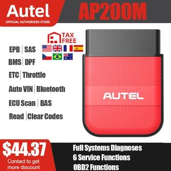 Autel AP200M Bluetooth OBD2 lector de código con sistemas completos de los diagnósticos de VIN/aceite de EPB/BMS/SAS/TPMS/DPF se reinicia IMMO paquete AP200