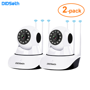 DIDseth 2 шт. 1080P WiFi IP камера 2MP домашняя Камера Безопасности 3 Антенна Беспроводная двухсторонняя аудио камера ночного видения видеоняня