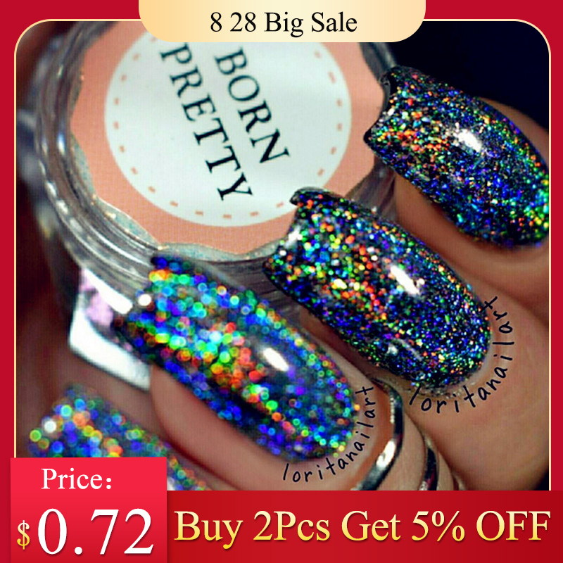 Pigment-Powder Paillettes Nail-Sequins Nail-Glitter-Laser Holo Born Pretty Galaxy Dust-0.2g