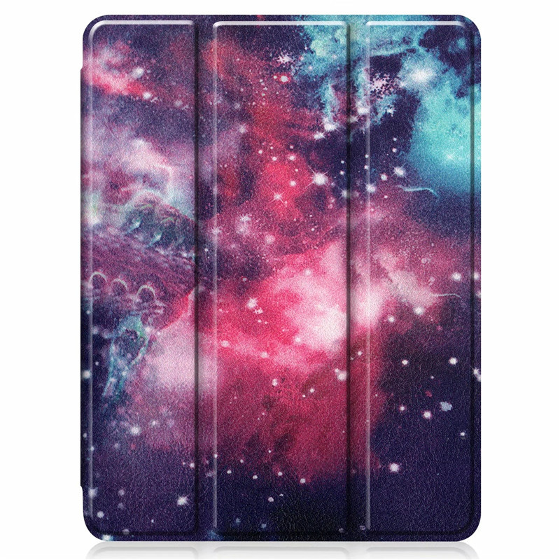 Case iPad iPad Back Case PU Leather Smart Cover Stand 9 For TPU For Painted 2020 Pro 12