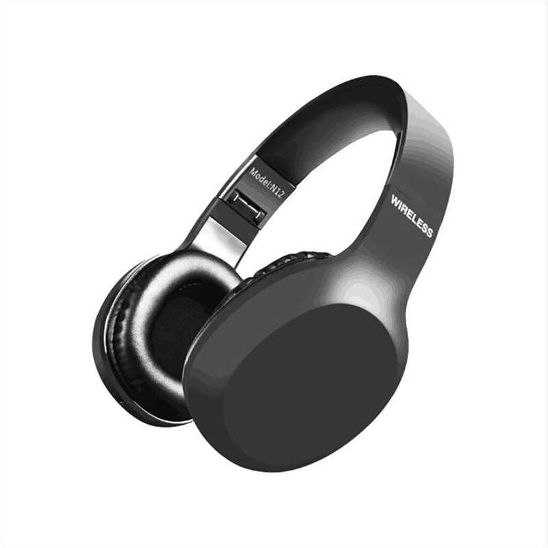N12 bezprzewodowy zestaw słuchawkowy składany bas zestawu słuchawkowego bluetooth miękkie słuchawki do gier z mikrofon do telefonu komputery PC