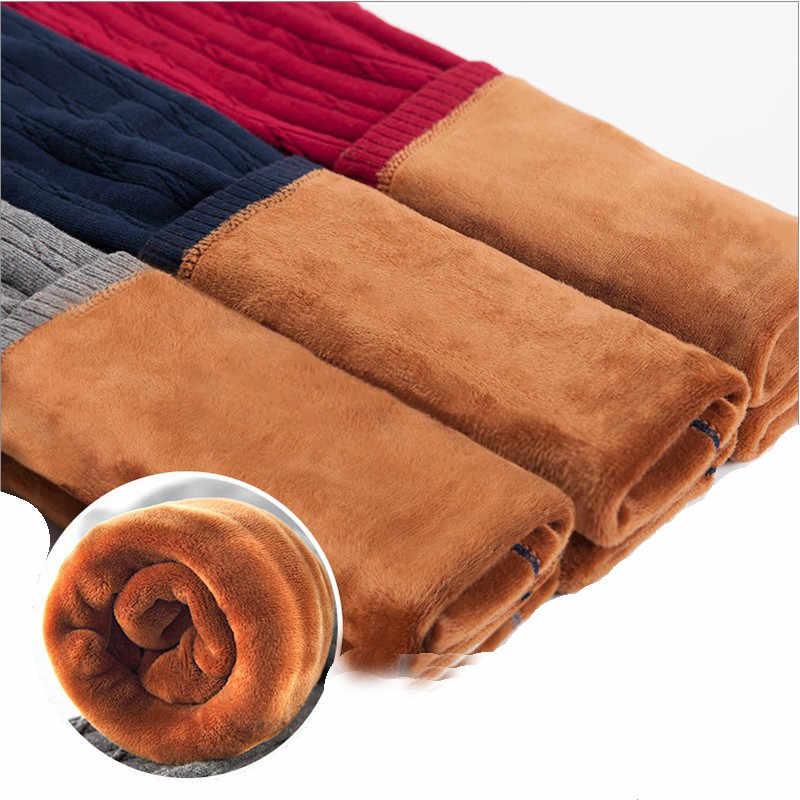 Mới Grils Mùa Đông Ấm Quần Leggin Cho Trẻ Em Dày Ấm Lưng Thun Quần Cotton Trẻ Em Sọc Quần Nhiệt Trẻ Em Quần Legging