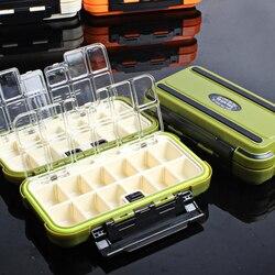 28 siatki akcesoria wędkarskie Box sprzęt wędkarski Box 4 kolor Fishing Lure Box enklawy linii hak pudełko do przechowywania w Skrzynie wędkarskie od Sport i rozrywka na