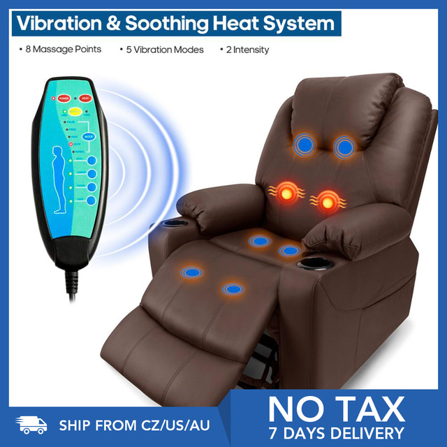 Faux Leather Reclining Chair and Electric Massage  1