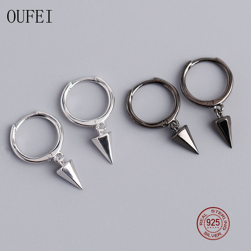 Punk Drop Earring For Men And Women 925 Sterling Silver Korea Lovers Earrings Geometric Fashion Simple Small Earring Jewelry