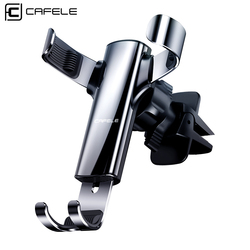 CAFELE Universal Gravity Car Phone Holder Alloy Air Vent Mobile Phone Holder Mount Stand For Car coche Interior Car Accessory