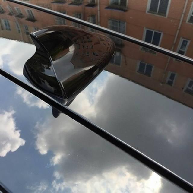 Alerón con forma de aleta de tiburón, cubierta de Radio, Antena de techo para coche aéreo, accesorios en blanco y negro para Hyundai IX20 IX25 Creta Tucosan Venue Kona
