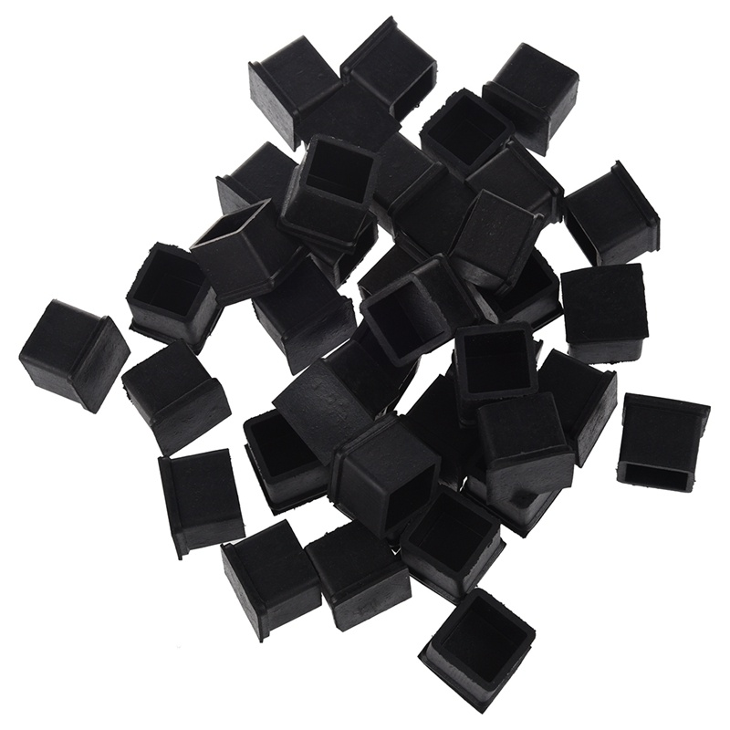40 Pcs Rubber Chair Table Foot Cover Furniture Leg Protectors 20x20mm