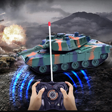 New Rc Battle Tank Remote Control WW2 War Shooting Tank Big Scale Radio Tiger Tank T-34 Army Battle Tank Model Children Toy Gift huanqi rc tank toy crawler simulation two infrared radio remote control twin battle tank set rc cars for children boy gift