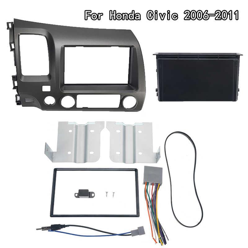 Samochód radio stereo 2 Din Taupe zestaw na deskę rozdzielczą multimedialny odtwarzacz wideo nawigacja gps rama oblicowania dla Honda Civic 2006-2011 akcesoria