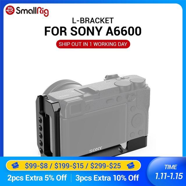 Smallrig a6600 l placa dslr câmera a6600 l placa l suporte para sony a6600 w/arca tipo placa para vlog vlogging rig 2503