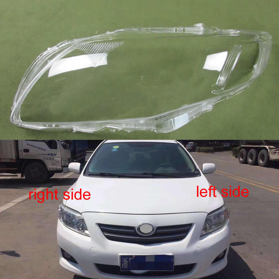 Headlamp Cover Transparent Lampshade Lampshadecover Front Headlight Shell For Toyota Corolla 2007 2008 2009