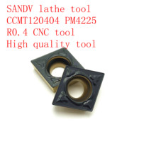 SANDV high quality lathe tool CCMT120404 PM4225 carbide tool, internal turning R0.4 CNC finishing
