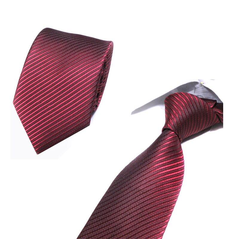 Wedding Men's Red Stripe Lattice Necktie Suit Male Cotton 8cm Silm Ties Colourful Cravat Formal Dress Accessory Men Classic Tie