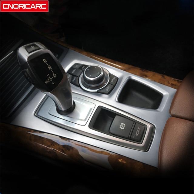 zhuzhu Ajuste for BMW X5 X6 E70 E71 2007-2013 Panel del Tablero de Instrumentos del Coche de Fibra de Carbono Estilo Interior Marco de navegaci/ón de la Pantalla Cubierta Reemplazo de los internos