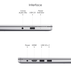 Original Xiaomi RedmiBook 14 Laptop Ryzen 5 3500U / 7 3700U 8GB RAM 512GB SSD Radeon Vega8 FHD Notebook PC 5