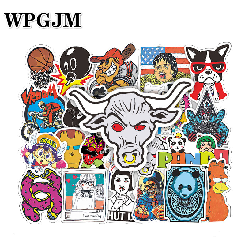 50Pcs Classic Stickers Doodling Travel DIY Stickers on The Car Motorcycle Luggage Laptop Bike Scooter Bathroom Guitar Stickers in Stickers from Toys Hobbies