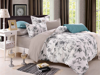 Europe and the United States Japanese full-size plant flowers three or four pieces of bedding comforter set  Quality  Polyester