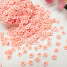20 г/лот розовый цветок маргаритки из полимерной глины Красочные глины для рукоделия «сделай сам» крошечные милые 5 мм пластиковые клейкие ч...