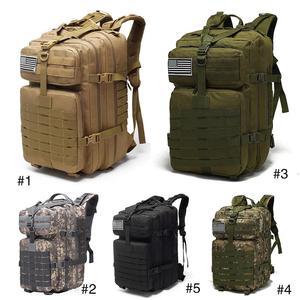 Image 1 - Военный рюкзак на шнурке 25L/35L/40L/45L, 800D, водонепроницаемый, Оксфорд, для рыбалки, охоты, кемпинга, скалолазания