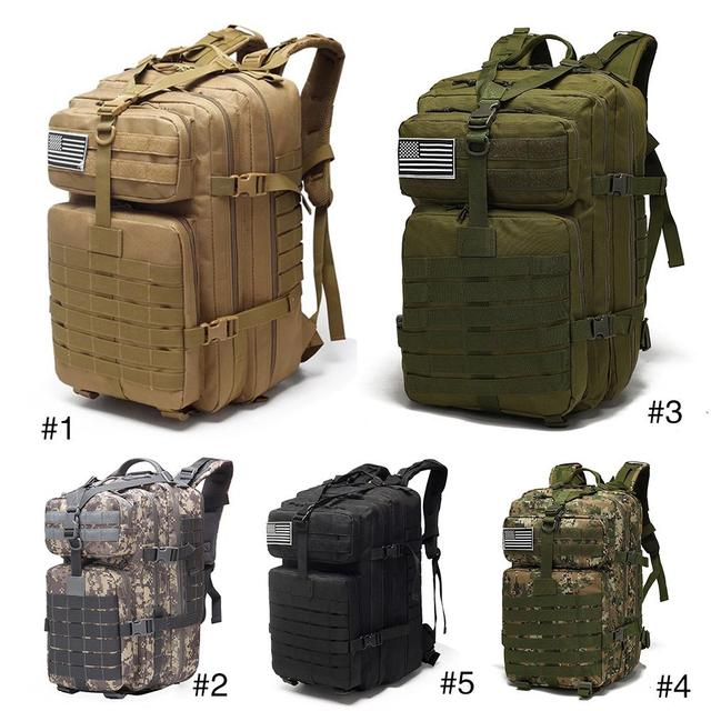 25L/35L/40L/45L Military Backpack Drawstring Tactical Outdoor 800D Waterproof Oxford Fishing Hunting Camping Climbing Backpack