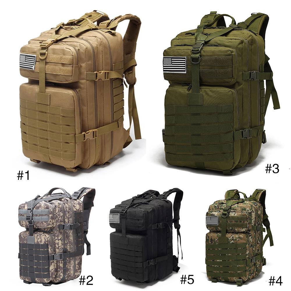 25L/<font><b>35L</b></font>/40L/45L Military <font><b>Backpack</b></font> Drawstring Tactical Outdoor 800D Waterproof Oxford Fishing Hunting Camping Climbing <font><b>Backpack</b></font> image