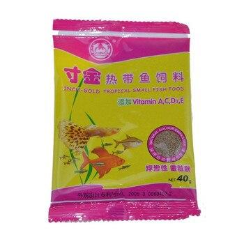 40g/Bag Package Of Feeding Food Tropical Fish Feed Fish Tank Aquatic  Pet Supplies 1