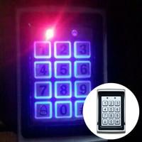 Digital Keypad Card Password Aluminum Alloy Door Access Control Entry Home Dustproof Reader LED Backlight Waterproof Electronic