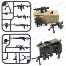 Legoinglys Military Figures Weapons Assemble Building Block Model Guns Ste Diy ww2 Army Equipment Moc Child Christmas Gifts Toys heavy machine guns diy military weapons bazooka soldiers army model building block brick arms ww2 police legoed toy for children