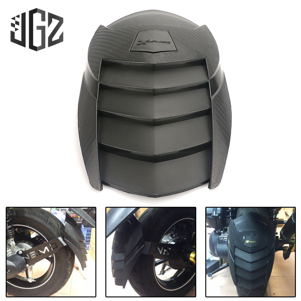 Motorcycle ABS Plastic Rear Mudguard Fender Wheel Tire Splash Pad Cover Protector For YAMAHA AEROX NVX155 2017 2018 Accessories