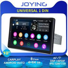 "Car Accessories 10"" Universal Head Unit 1 Din Android Audio Car Stereo Radio HD 1280*720 4G Wifi DSP GPS DVD Player Carplay DVR"