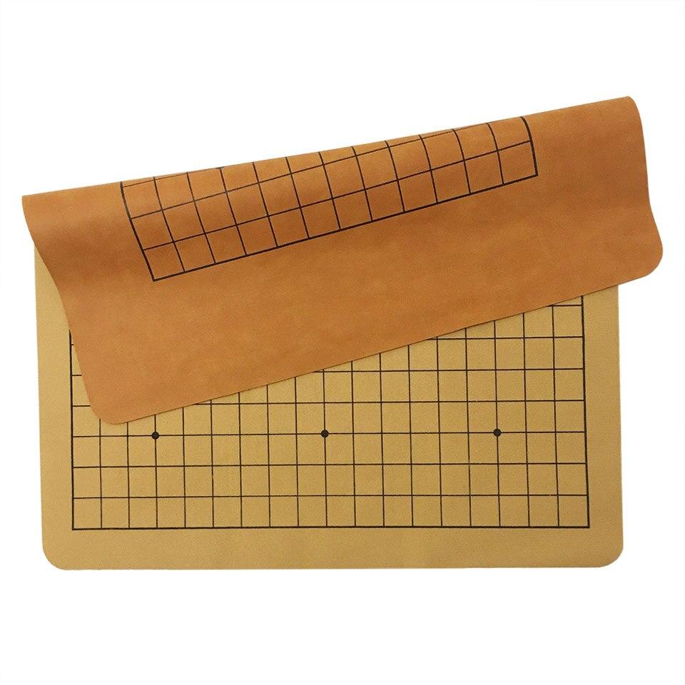 Go échecs échiquier 22*25mm 19 route et 25 mm 13 route PU et peluche damier ancien jeu de Go Weiqi conseil pour 2.2cm damier GB08