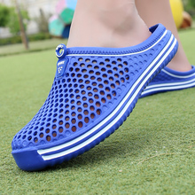 2021 Summer Non-slip Slippers Men's Hollow Breathable Beach Slippers Unisex Casual Flat Sandals Men's Shoes Size 45
