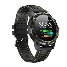 SKY 1 ساعة ذكية الرجال IP68 مقاوم للماء نشاط المقتفي اللياقة البدنية تعقب ساعة ذكية حافة للهاتف أندرويد آيفون IOS