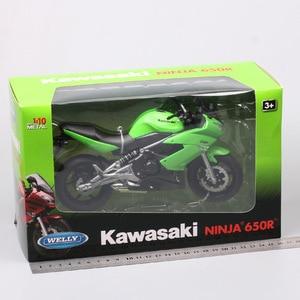 Image 5 - 1/10 wellyスケールカワサキニンジャ650R ER 6f EХ 6オートバイ模型ダイキャスト車スポーツツーリングレースバイクのおもちゃサムネイル子供