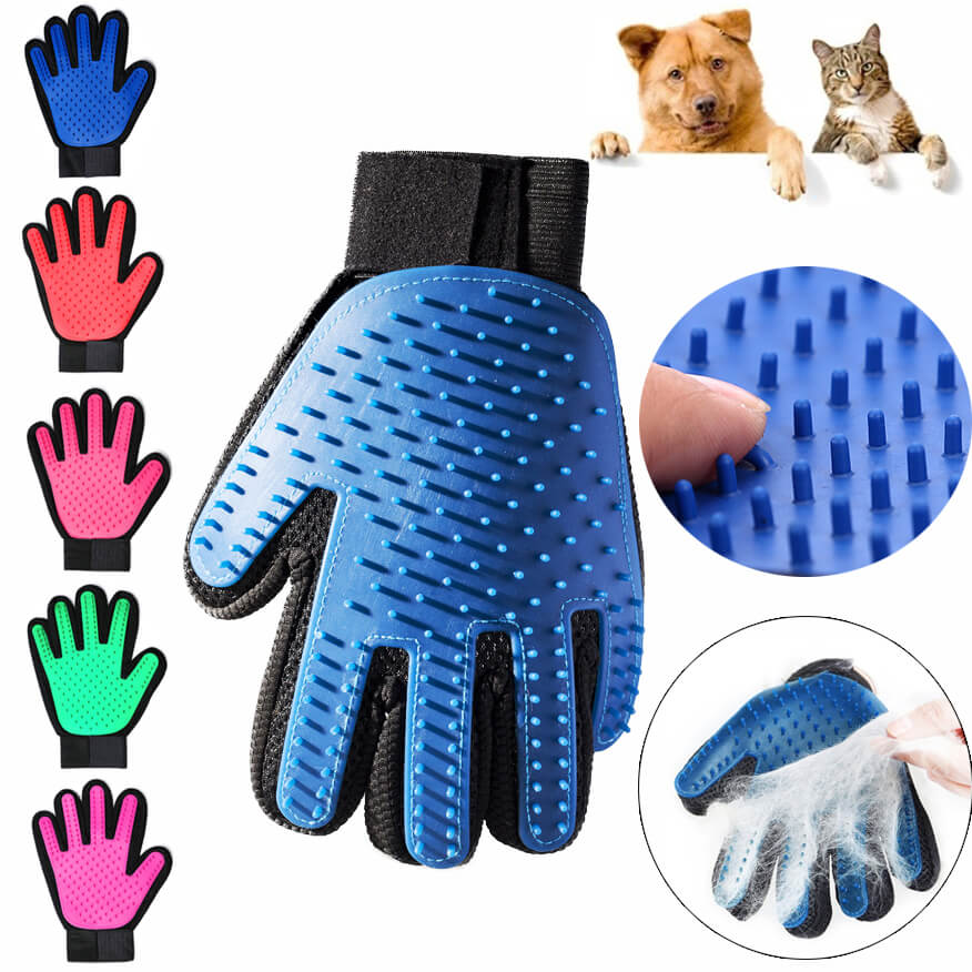 5 Colors Glove For Cats Dogs Grooming Combs Pet Hair Remover Hairbrush For Small Medium Large Animals Supplies Pets Accessoies