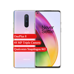 OnePlus 8 5G Smartphone  Android 6.55'' Snapdragon 865 Octa Core 8GB Ram 12GB Rom 48MP Triple Cameras 4300mAh NFC Mobile Phone