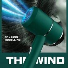Secador de pelo profesional de viento fuerte, secador de pelo de salón con viento frío y caliente iónico negativo, soplador de pelo eléctrico seco
