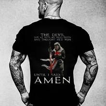 Puro de ocio de algodón de la Cruzada T camisa-el Diablo Me vio-Knight Templar