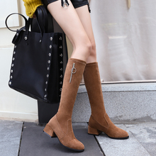 цена на Fashion Over The Knee Boots Women Autumn Winter Women Boots 2019 New Sexy Boots High Heels Boots Ladies Brown Black Boots Women
