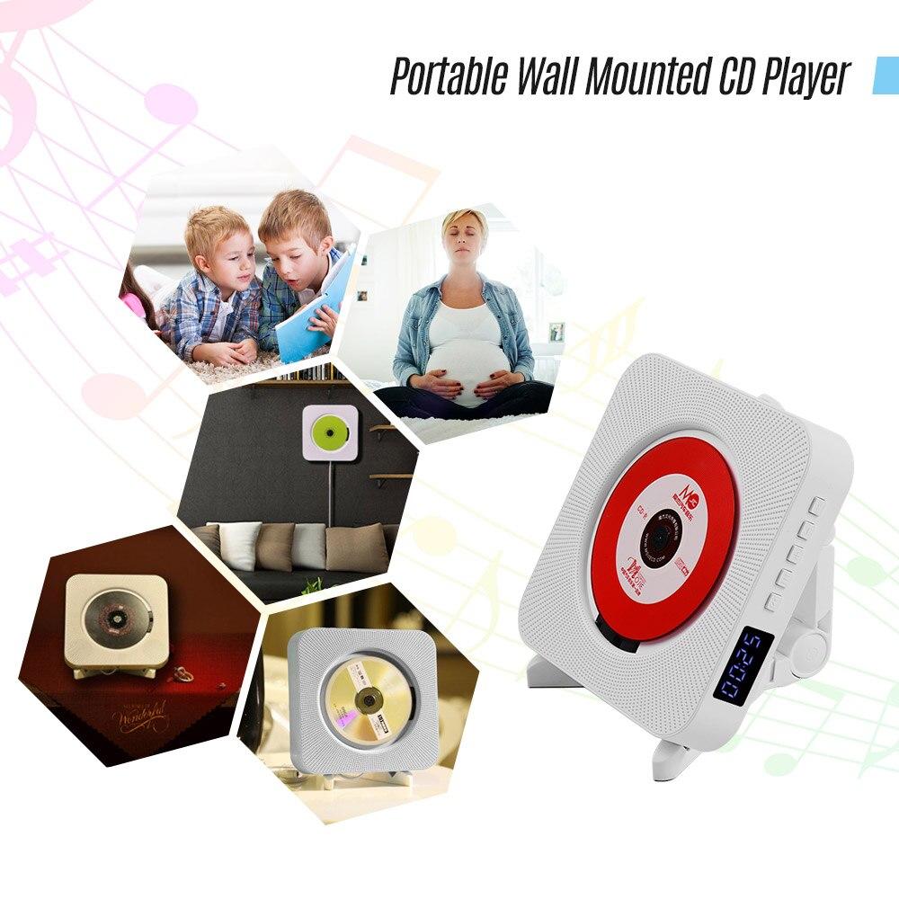 Lecteurs CD muraux avec affichage de LED Audio de musique Portable Boombox télécommande prise en charge BT/USB/carte mémoire/Modes FM