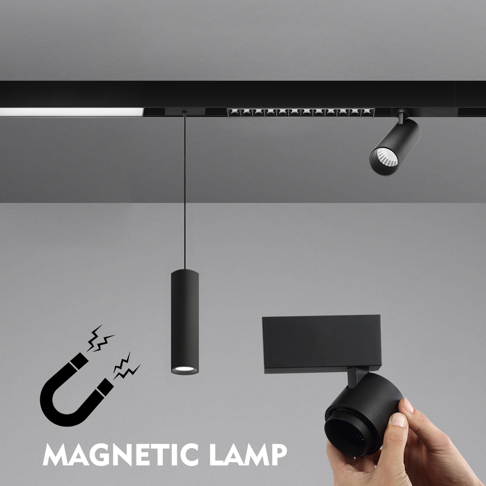 Zerouno Led Track Light Magnetic Light Modern Indoor Tracking Lamp Bulbs No Main Lamp Design For Home Hotel Office Display