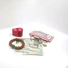 Wallet Coin Card-Holder Business-Card-Case Small Purse Credit-Card Zipper Gift Ultra-Thin