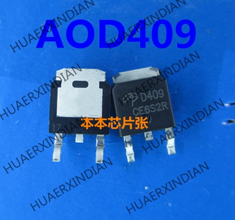5PCS AOD409 MOSFET P-CH 60V 26A TO252 409